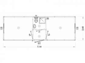 Container Modell L1 - WC,...