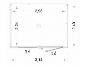 Box Prefabbricati Open Space Modello New Millennium 40mm - 3,14 m. | Box & Box