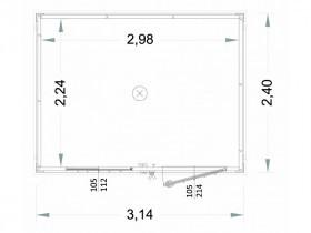 Box Prefabbricati Open Space Modello New Millennium 40mm - 3,14 m. | Box & Box
