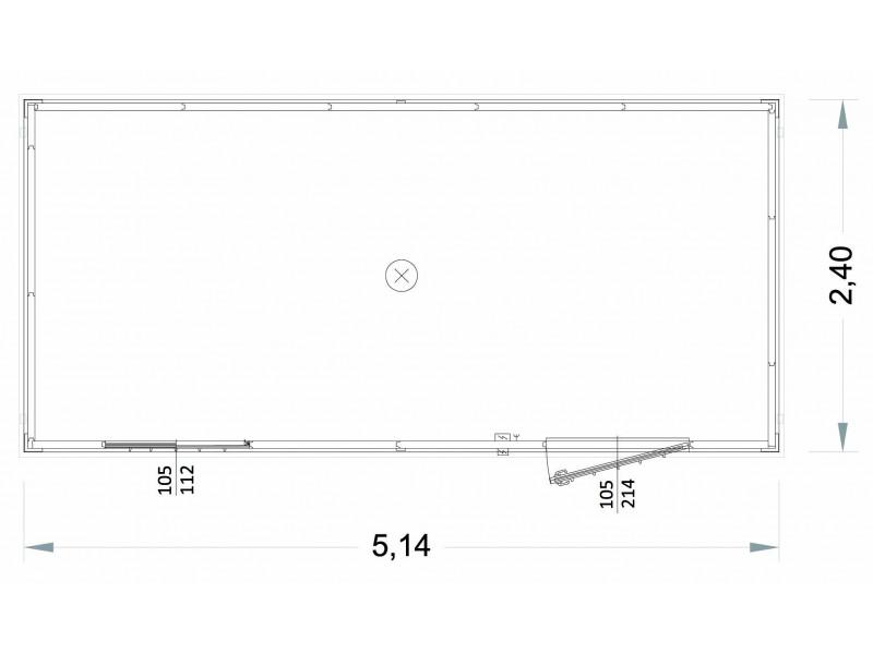 Box Prefabbricati Open Space Modello New Millennium 40mm - 5,14 m.   Box & Box