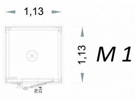 Vorgefertigte Kabine Modell C1 - 1,13 x 1,13 x 2,15 h - M1 | Container.biz