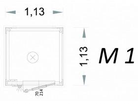 Cabina Prefabbricata Modello C1 - 1,13 x 1,13 x 2,15 h - M1 | Box & Box