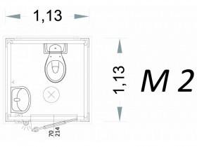 Cabina Prefabbricata Modello C1 - 1,13 x 1,13 x 2,15 h - M2 | Box & Box