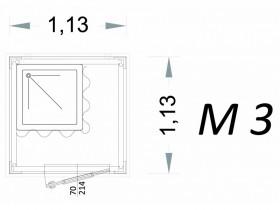 Vorgefertigte Kabine Modell C1 - 1,13 x 1,13 x 2,15 h - M3 | Container.biz