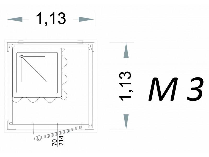 Cabina Prefabbricata Modello C1 - 1,13 x 1,13 x 2,15 h - M3 | Box & Box