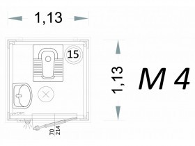 Cabina Prefabbricata Modello C1 - 1,13 x 1,13 x 2,15 h - M4 | Box & Box