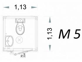 Vorgefertigte Kabine Modell C1 - 1,13 x 1,13 x 2,15 h - M5 | Container.biz