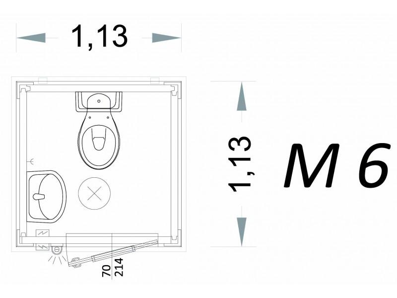 Cabina Prefabbricata Modello C1 - 1,13 x 1,13 x 2,15 h - M6 | Box & Box