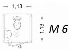 Vorgefertigte Kabine Modell C1 - 1,13 x 1,13 x 2,15 h - M6 | Container.biz