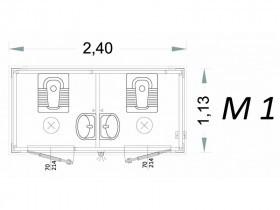 Cabina Prefabbricata Modello C2 - 2,40 x 1,13 x 2,15h - M1 | Box & Box