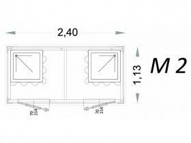 Cabina Prefabbricata Modello C2 - 2,40 x 1,13 x 2,15h - M2 | Box & Box