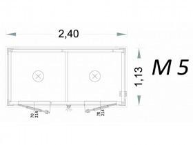 Vorgefertigte Kabine Modell C2 - 2,40 x 1,13 x 2,15h - M5 | Container.biz