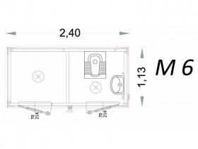 Cabina Prefabbricata Modello C2 - 2,40 x 1,13 x 2,15h - M6 | Box & Box