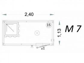 Cabina Prefabbricata Modello C2 - 2,40 x 1,13 x 2,15h - M7 | Box & Box