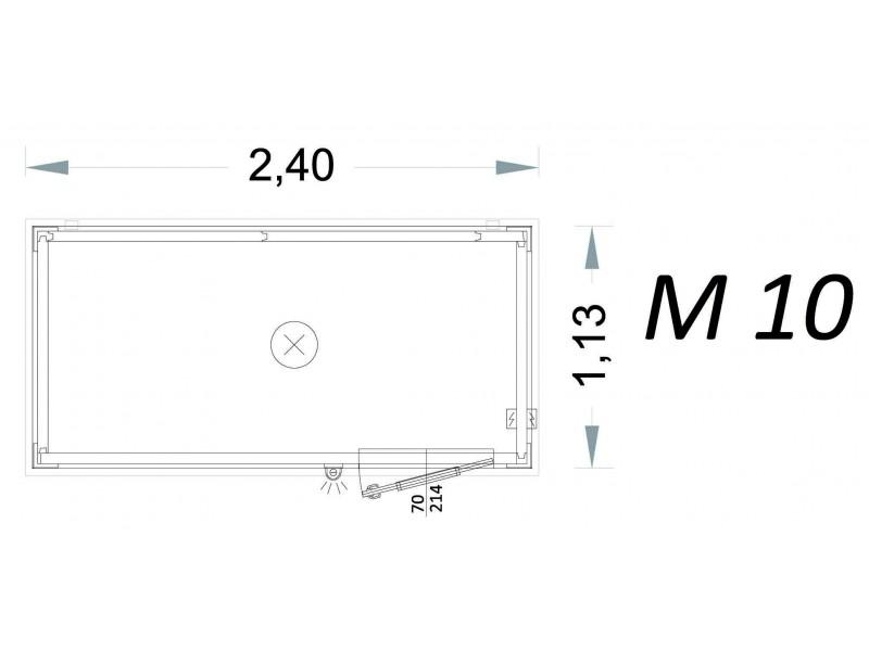 Vorgefertigte Kabine Modell C2 - 2,40 x 1,13 x 2,15h - M10 | Container.biz