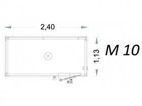 Cabina Prefabbricata Modello C2 - 2,40 x 1,13 x 2,15h - M10 | Box & Box