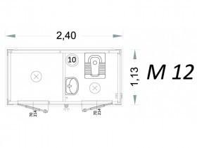 Cabina Prefabbricata Modello C2 - 2,40 x 1,13 x 2,15h - M12 | Box & Box