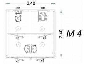 Vorgefertigte Kabine Modell C3 - 2,40 x 2,40 x 2,15h - M4 | Container.biz