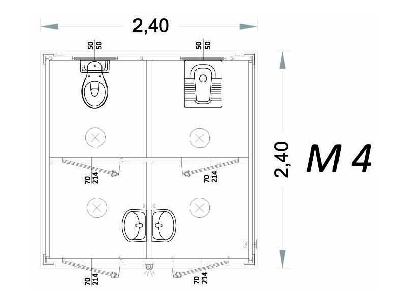 Cabina Prefabbricata Modello C3 - 2,40 x 2,40 x 2,15h - M4 | Box & Box