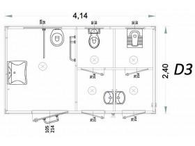 Monoblocco per disabili Modello D - 4,14 x 2,40 x 2,40h - D3 | Box & Box