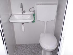 Container Modell K1 - WC und Waschbecken, zentrale Toilette - 7,14 m.   Container.biz