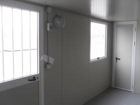Box Prefabbricati modello L1 - Wc, lavabo e doccia, Servizio centrale - 6,14 m. | Box & Box
