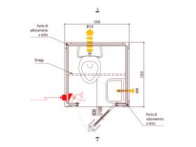 Box Cabina Bagno Standard 120x120x220 Altezza | Container.it