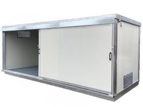 Gedämmter Container mit Auffangwanne - 600 x 230 - h 240 | Container.biz