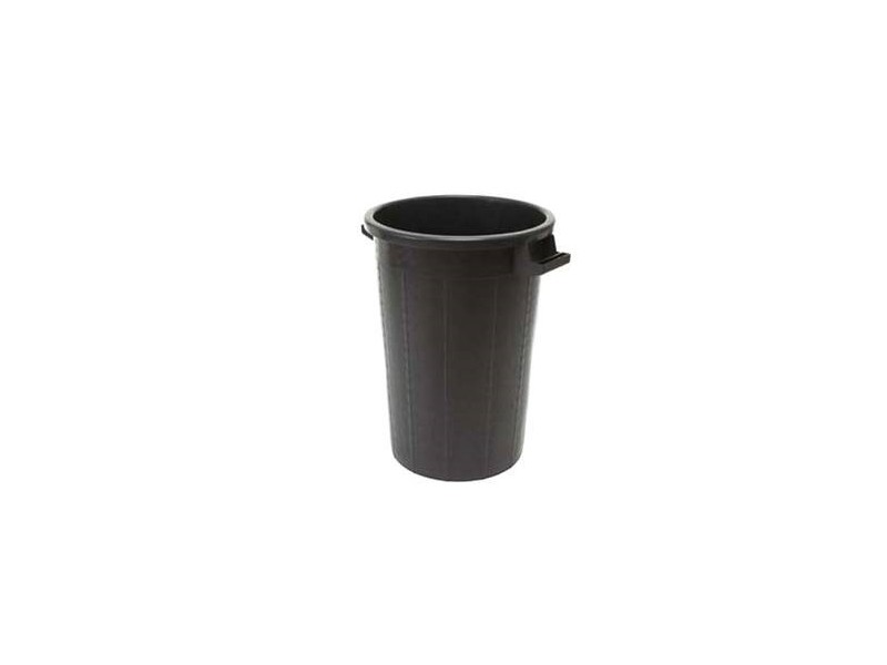 Bidone Immondizia Industriale 100 litri Nero con Coperchio | Container.it